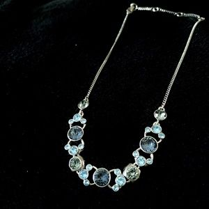 Givenchy Indian silver tone Sapphire necklace
